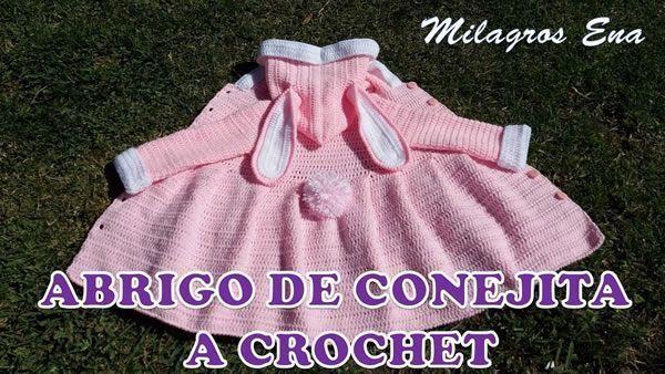 Suéter o Abrigo a crochet de conejita para Niñas