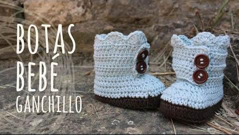 Botas para bebé a ganchillo