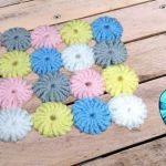 Flores yoyo a crochet