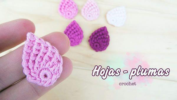 DIY Hoja o pluma a crochet