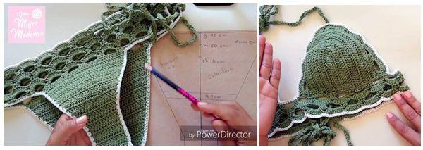 Bikini tejido a crochet en diferentes tallas - Canal Crochet c8484d16fe9