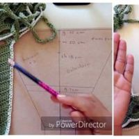 Bikini tejido a crochet en diferentes tallas