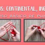 Estilos Continental, Inglés punto o dos agujas