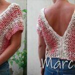 Blusa o camiseta Marcella a crochet