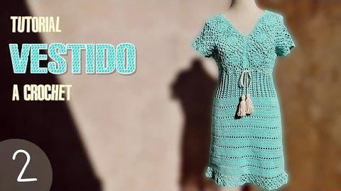 Vestido de mujer tejido a crochet