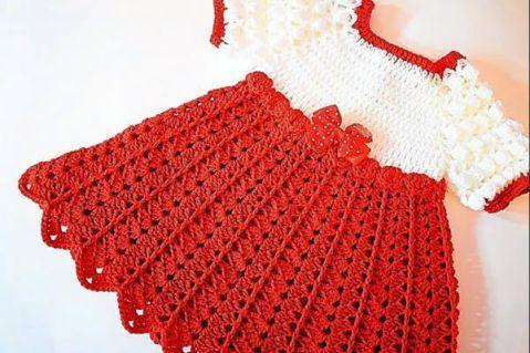Vestido De Niña Tejido A Crochet Canal Crochet