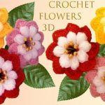 DIY flores muy fácil a Crochet en punto 3D