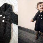 DIY Abrigo para bebé a dos agujas