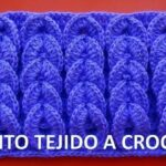 Punto trenzas en relieve a crochet