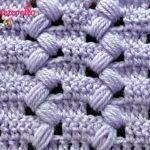Punto Puff Zigzag a crochet
