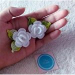 DIY Flores mini rosas tejidas a crochet