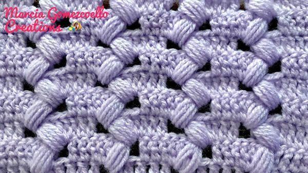 Punto Puff Zigzag crochet