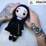 Merlina Addams en amigurumi