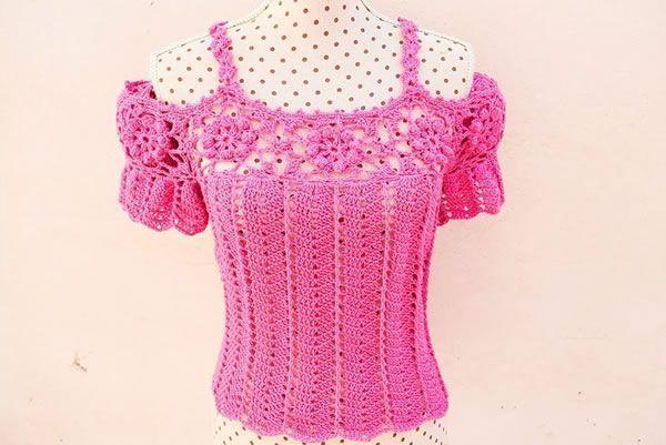 DIY Blusa de mujer a crochet rápida y fácil