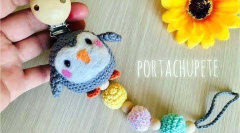DIY Porta-chupete Pingüino amigurumi paso a paso