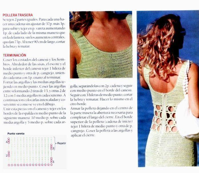 Lindo vestido de verano tejido a crochet