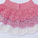 DIY Falda de volantes de piñas a crochet  fácil