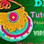 Bolso de niña tejido a crochet