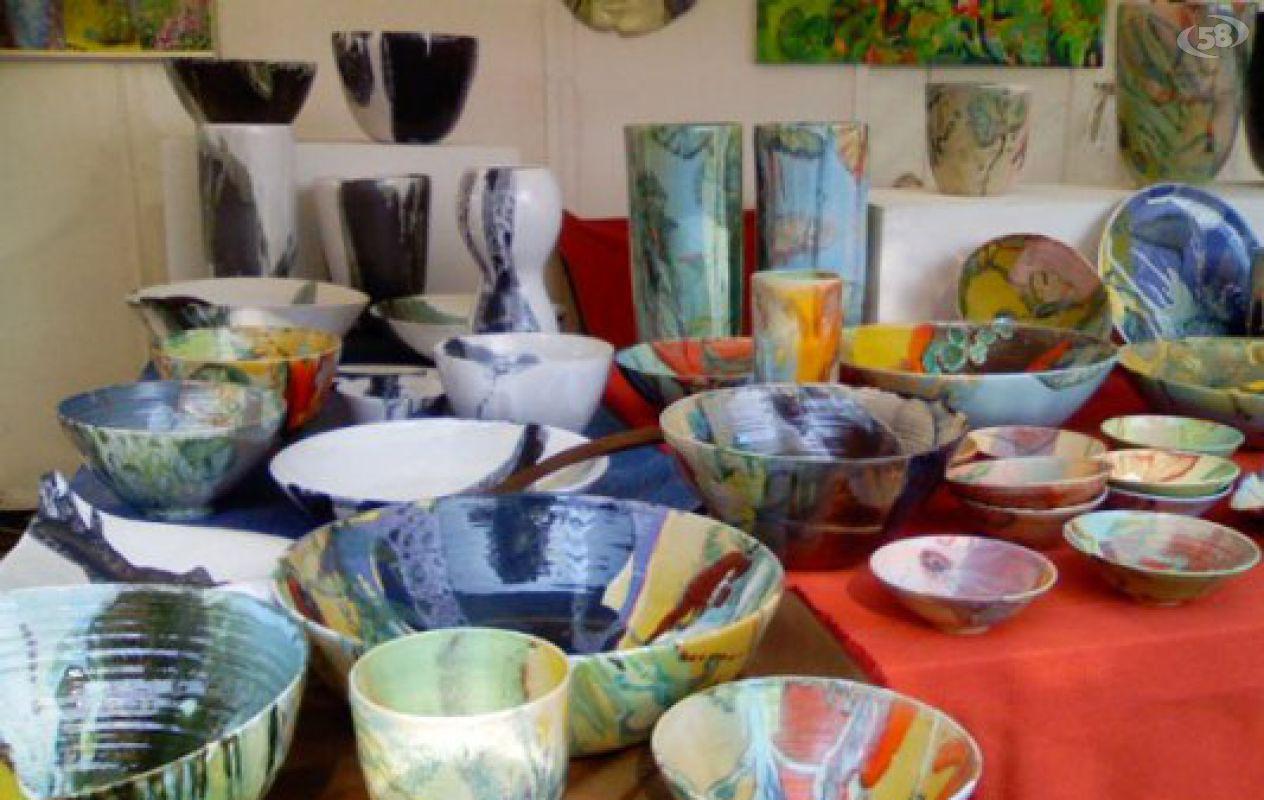 I ° mercato internazionale piazze d'europa La Ceramica Arianese Alla Mostra Argilla Di Faenza Canale 58 La Tv Del Territorio