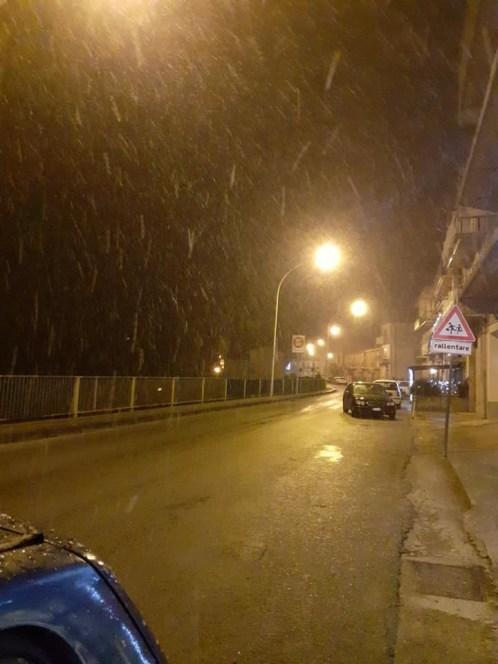 Neve in provincia di siracusa