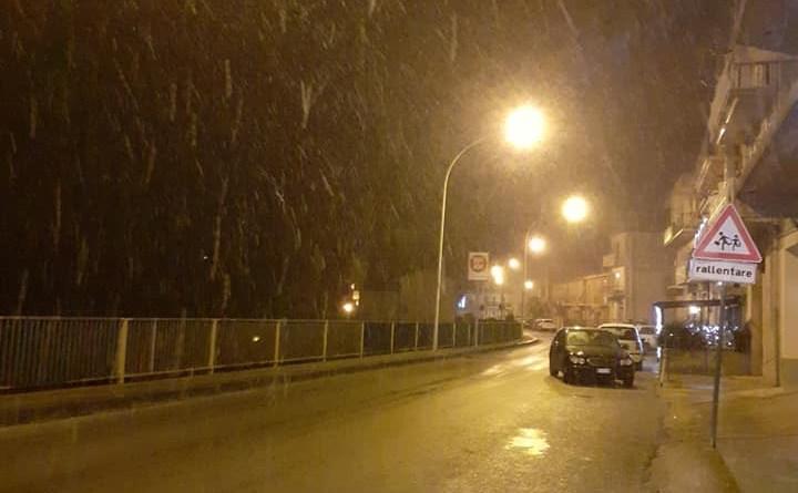 Neve in provincia di Siracusa, imbiancate diverse città