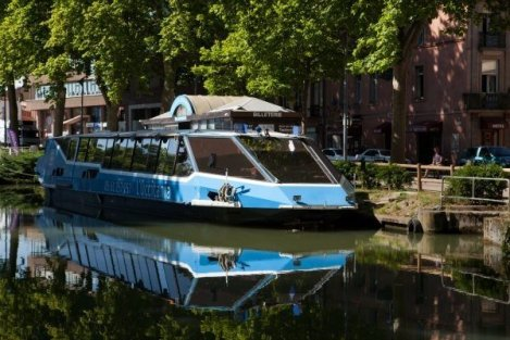 bateau promenade, toulouse, croisiere restaurant, canal du midi