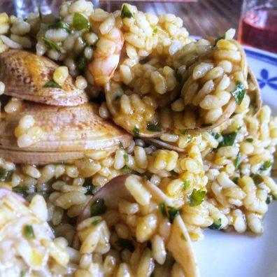 El arroz en salsa verde