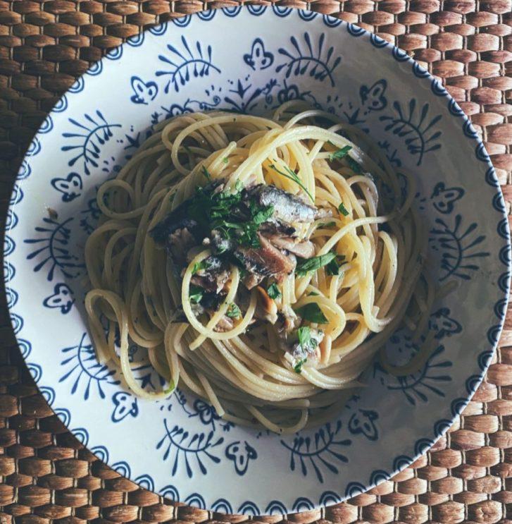 Los espaguetis con sardinas en un pispás
