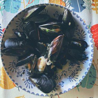 Clóchinas en salsa marinera