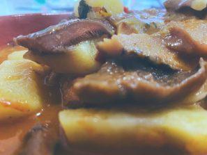 Las patatas con robellones
