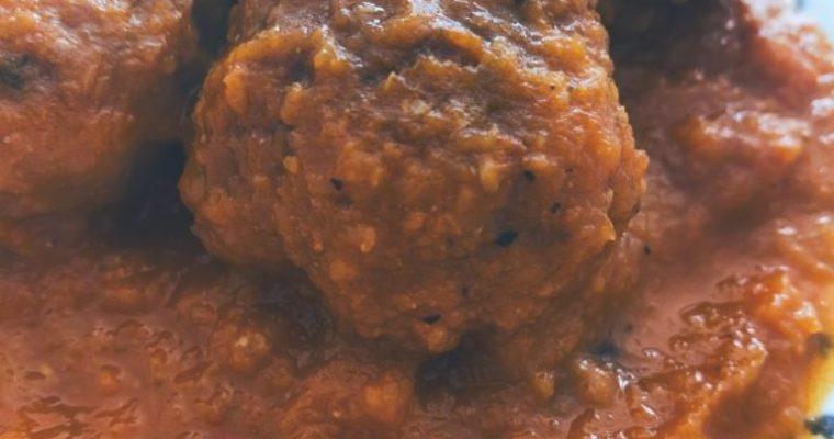 La salsa de zanahoria y sus albóndigas