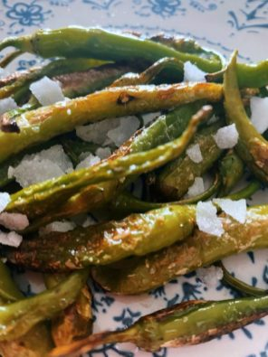 Las piparras verdes fritas