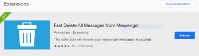 supprimer d'un seul coup tous les messages sur Messenger