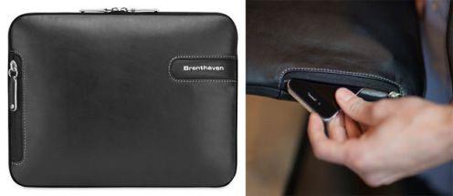 Esta tem um bolso na lateral para seu smartphone. Boa ideia!