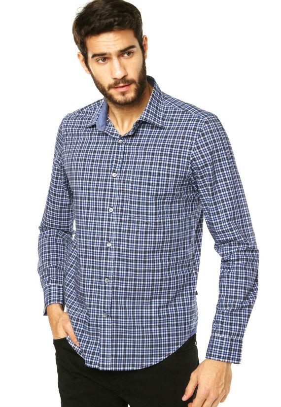 Camisa-Richards-Azul-xadrez