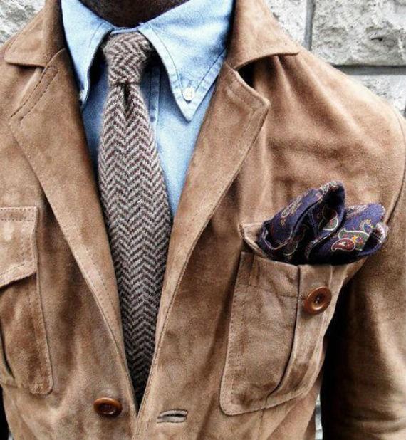 Tipos de jaqueta de couro - Jaqueta de camurça