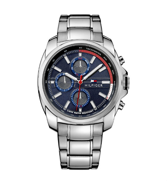 bc5be90daff Preston – Relógio com pulseira e caixa de aço com 44mm de diâmetro e  resistência 5 ATM. Com três cronógrafos e integração perfeita entre  pulseira e caixa