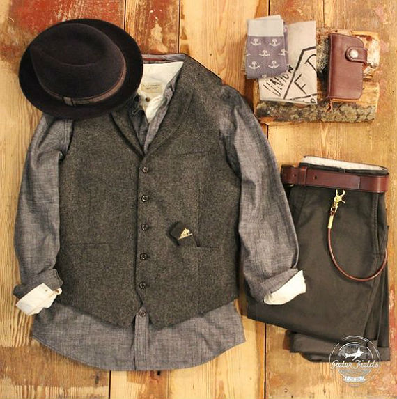 look-camisa-chambre-vintage-chapeu