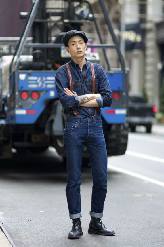 O Look Certo: Double Jeans Com Suspensórios de Couro