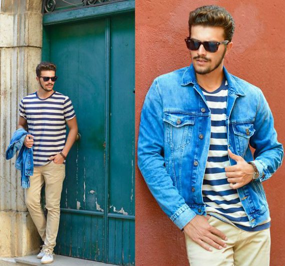 O Look Certo: Navy Com Jaqueta Jeans