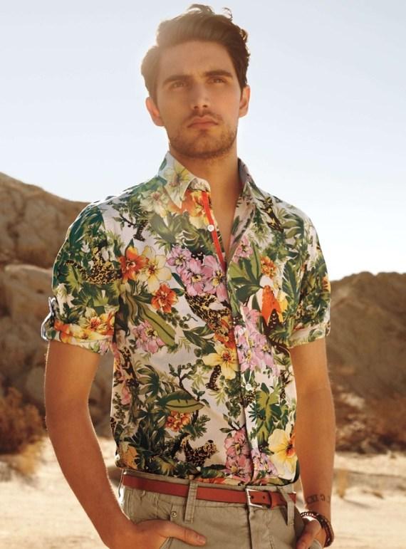 Resultado de imagem para estampa botânica moda masculina
