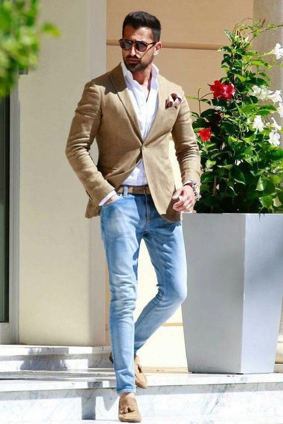O Look Certo: Despojado com Blazer de Linho Para o Verão