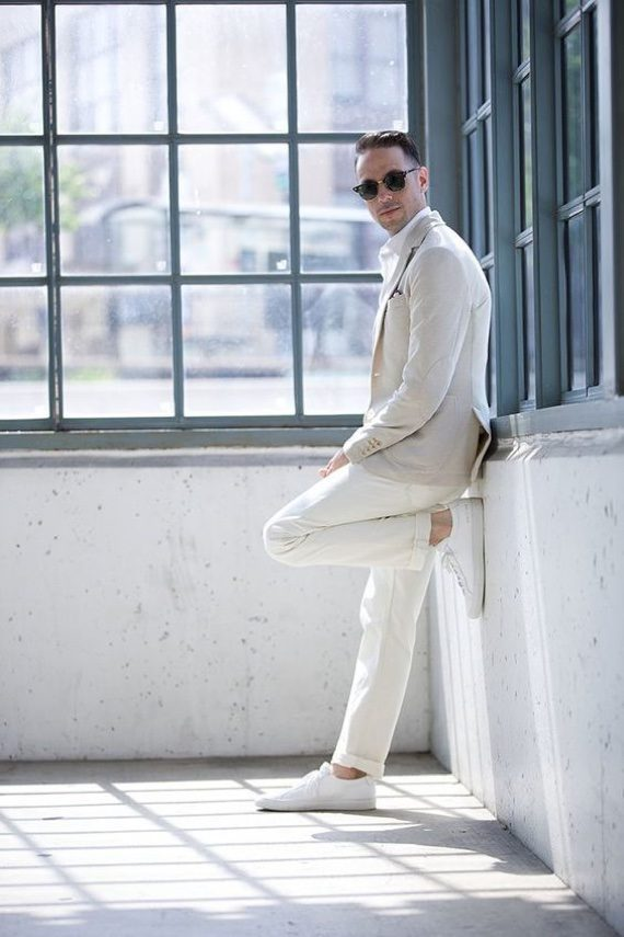 Looks Masculinos Para o Ano-Novo: uma peça branca