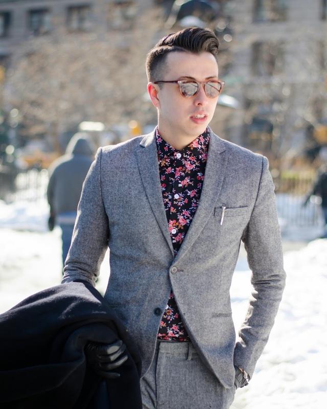 Como Usar Camisa Floral Com Terno ou Blazer