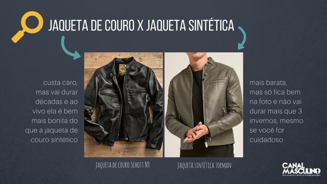 Jaqueta de couro X jaqueta sintética (couro falso)
