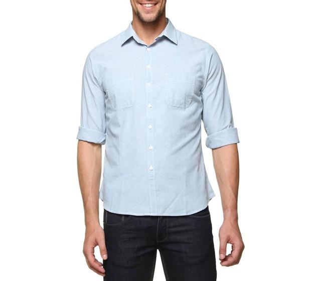 Dica: Double Jeans Fake Com Camisa de Chambray Para o Verão