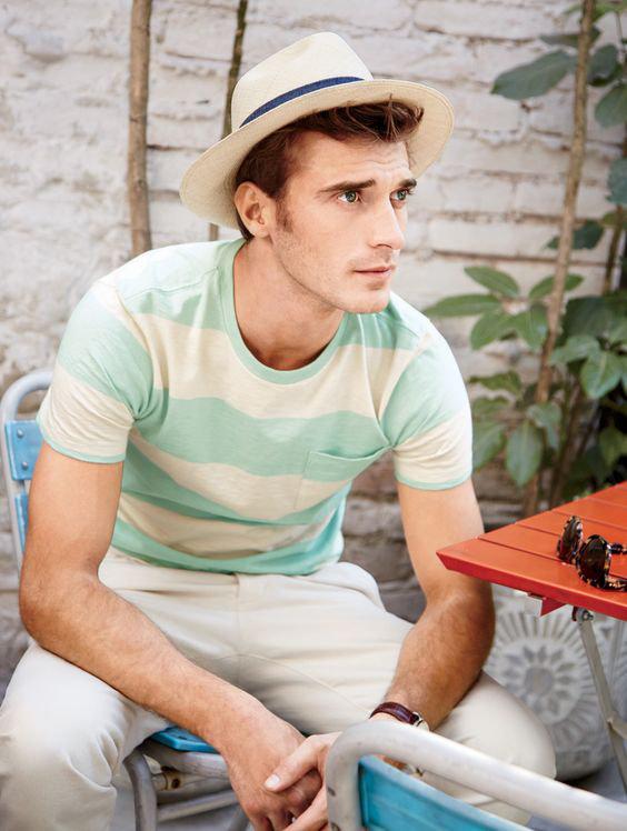 Chapéu Panamá em look masculino de verão