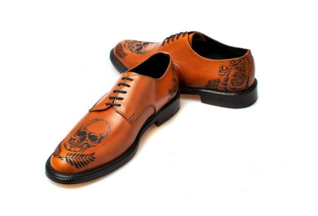 Terrible Enfant Lança Sapatos Masculinos Tatuados