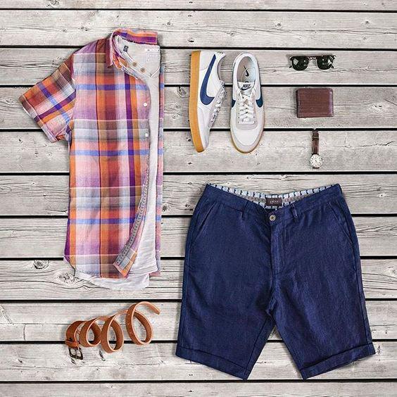 Sugestões de Looks Masculinos Com Bermuda Para o Verão