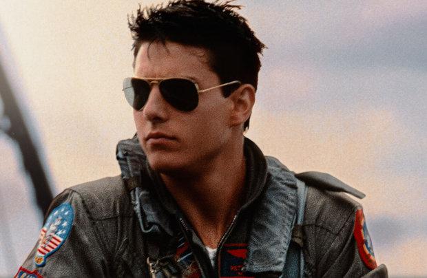 Tom Cruise em Top Gun com os Óculos Aviador da Ray-Ban